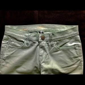 Loft petite light mint green modern skinny chinos